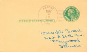 United States Texas Leaday c1950 4f-bar  1905-1988  Postal Card  Philatelic.