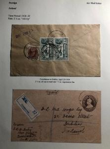 1939 Coimbatore India Stationary Registered Cover To Dublin Ireland