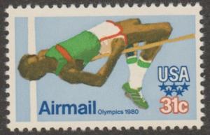USA stamp, Airmail, Scott# C97, MNH, olympics 1980, green shoes, #MA035