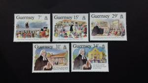 Guernsey 1987 The 200th Anniversary of the visit from John Wesley Mint