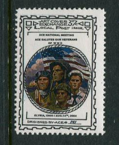 Doc's Local Post Salutes Veterans (Military Branches) 1 1/8 x 1 5/8 MNH