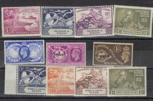 Trinidad Tangier Turks and Caicos 1949 UPU Sets x 3 MNH JK427