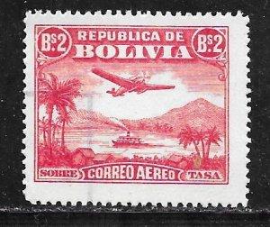 Bolivia C33: B2 Aircraft over Lake Titicaca, used, F-VF