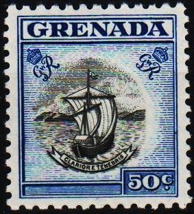 Grenada. 1951 50c S.G.182 Mounted Mint