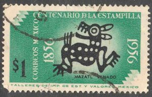 MEXICO 895, $1P Centenary of 1st postage stamps. Used. F-VF. (1025)