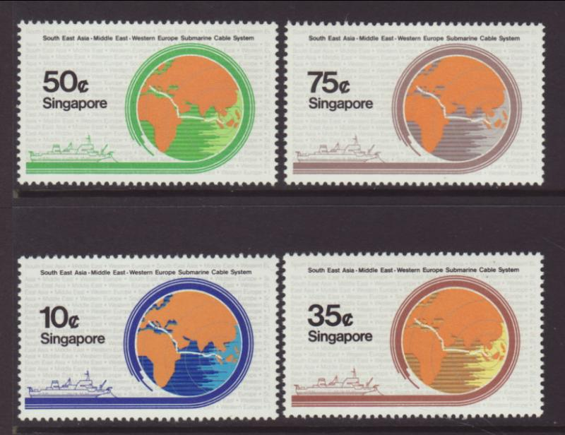 Singapore 491-494 Cable MNH VF