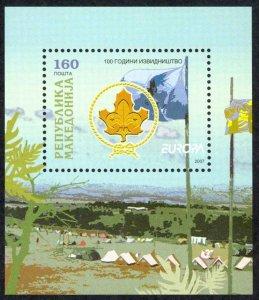 Macedonia Sc# 411 MNH Souvenir Sheet 2007 Europa