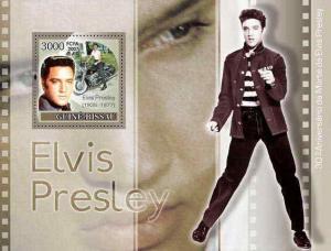 Guinea-Bissau - Elvis & Motorcycles  Stamp Souvenir Sheet GB7307b