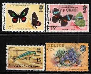Belize - Four (4) Different Stamps ~ #345,352,334,709 ~ MX