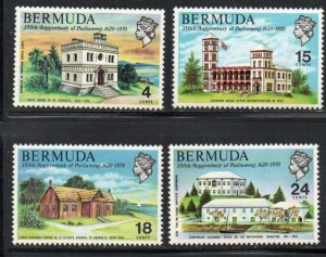 Bermuda Sc 272-75 1970 Parliament Anniversary stamp set mint NH