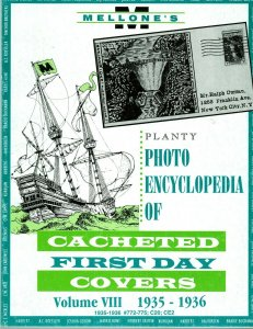 Mellone Planty Photo Encyclopedia First Day Covers 1935-36 Volume VIII Bound
