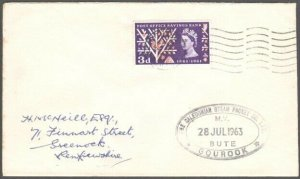 GB SCOTLAND 1966 Cover Clyde Steamer cachet M.V.BUTE........................D897