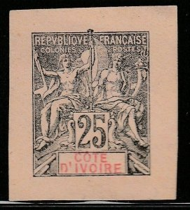 French Ivory Coast France Postal Stationery Cut Out A17P3F865