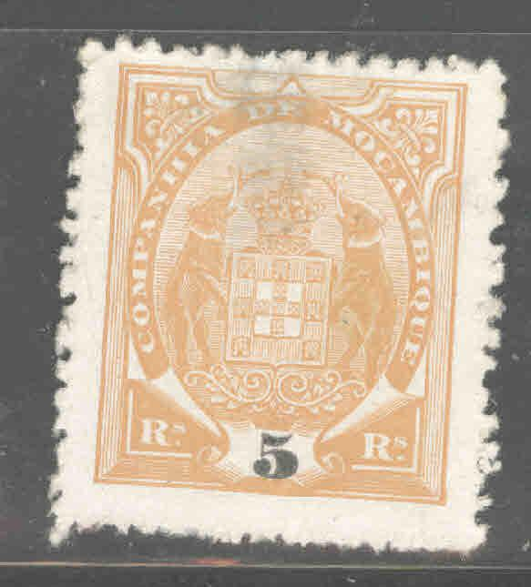 Mozambique  Company Scott 12 MNG Thinned stamp from 1897-1907 Coat of Arms set