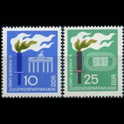 DDR 1968 - Scott# 1015-6 Youth Games Set of 2 NH