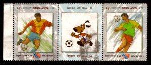 Bangladesh TK.40/- World Cup Soccer, Football Sports 1994 Sc.456a-b Used