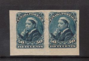 Canada #47a XF Mint Imperforate Pair
