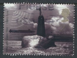 GB  SC# 1967 Royal Navy Submarine 2001  SG 2202  Used   as per scan