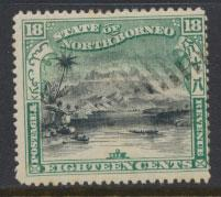 North Borneo  SG 110b CTO  perf 15  corrected inscription see scan & details
