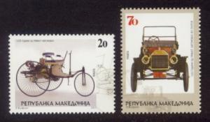Macedonia Sc# 559-60 MNH Automobile Centenary