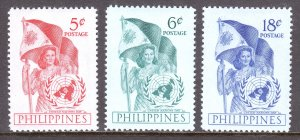 Philippines - Scott #569-571 - MH - Crease #569, lt. crease #570 - SCV $3.75