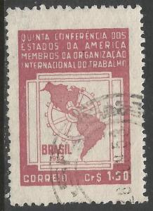 BRAZIL 720 VFU MAP ROTARY R10-174-2