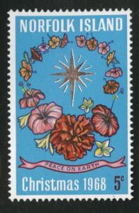 Norfolk Island Scott 121 MNH** Christmas 1968 stamp