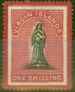 Virgin Islands 1867 1s Black & Rose-Carmine SG18 Fine Lightly Mtd Mint