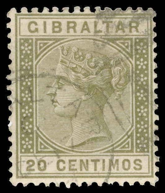 Gibraltar Scott 31 Gibbons 25 Used Stamp
