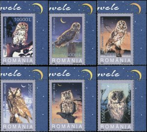 Romania 2003 Sc 4579-4584 Birds Owls CV $4.75