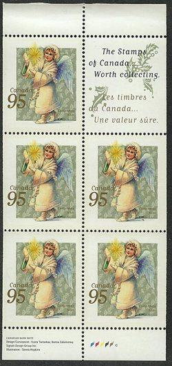 Canada - 1999 Christmas Angel w. Candle Pane VF-NH #1817a