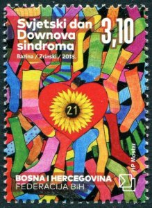 HERRICKSTAMP NEW ISSUES BOSNIA (CROAT ADMIN) Sc.# 370 Down Syndrome Day 2018
