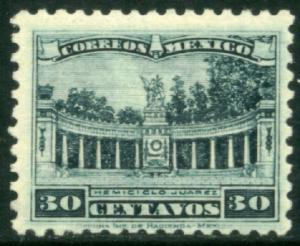 MEXICO 692, 30cents JUAREZ MONUMENT. Mint Never Hinged. F-VF.