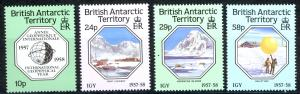 British Antarctic Territory Sc# 141-144 MNH 1987 Intl. Geophysical Year 30th
