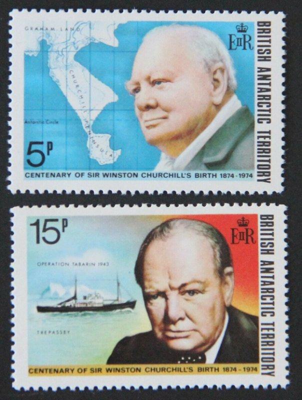 1974 British Antarctic Territory 62-63 Winston Churchill 5,00 €