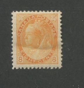 1898 Canada 8 Cent Orange Stamp Scott #82 Queen Victoria CV $375
