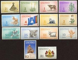 Lesotho Sc # 91 - 104, MNH.  Complete Set.