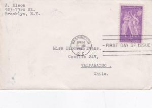United States 1940 50th Anniversary of Pan American Union FDC Used VGC D
