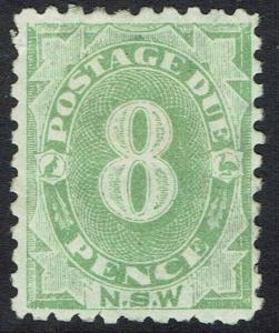 NEW SOUTH WALES 1891 POSTAGE DUE 8D