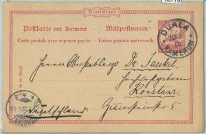 66775 - GERMAN COLONIES - Postal History - STATIONERY CARD from DUALA Cameroon