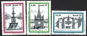 Brazil. 1979. 1731-33. Fountains. MVLH.