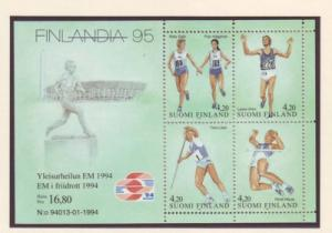 Finland Sc 939 1994 Track & Field stamp sheet mint NH