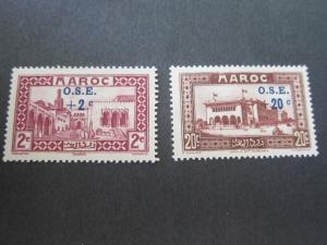 French Morocco 1938 Sc B13,B15 MH