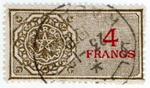 (I.B) France Colonial Revenue : Morocco Duty 4Fr