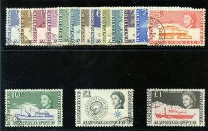 British Antarctic Territory 1963 QEII set complete VFU. SG 1-15a. Sc 1-15,24.