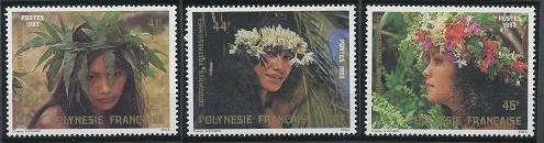 French Polynesia 386-388 MNH (1983)
