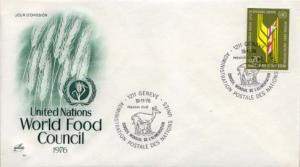United Nations Geneva, First Day Cover, Food