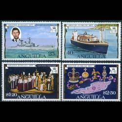 ANGUILLA 1977 - Scott# 271-4 QEII Reign Set of 4 NH