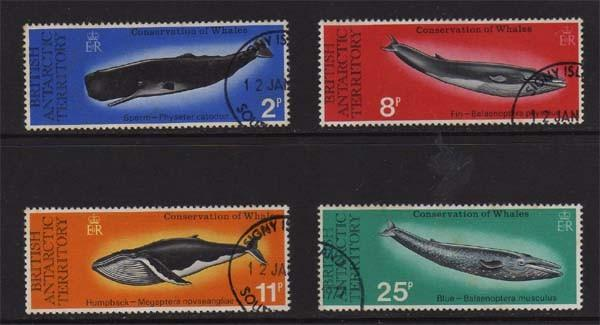 British Antarctic Territory 1977 Fish set FU