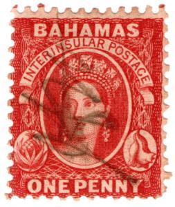 (I.B) Bahamas Revenue : Duty Stamp 1d